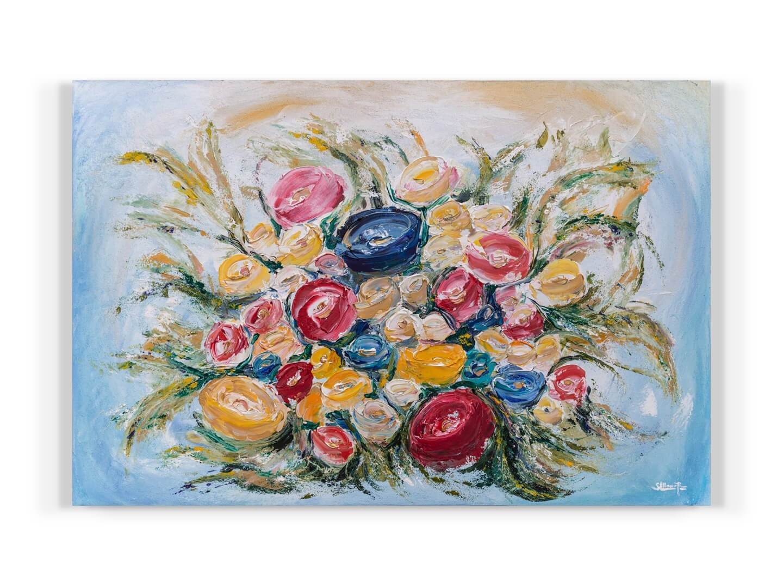 RAMO DE NOVIA 120x80 Acrylic on canvas 2019 Wedding abstract painting